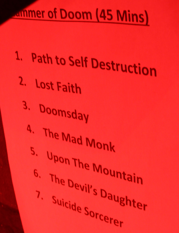 Setlist Hammer of Doom XI - IRON VOID